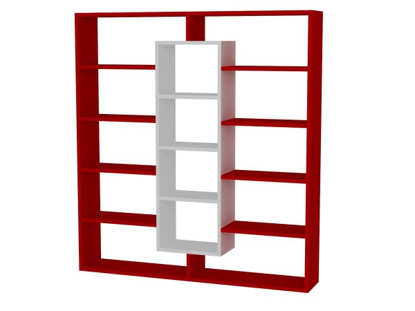 Bücherregal Ample Rot Weiß