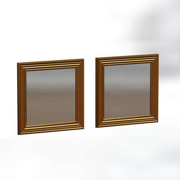 Spiegel Bale 2er 40x40cm Gold