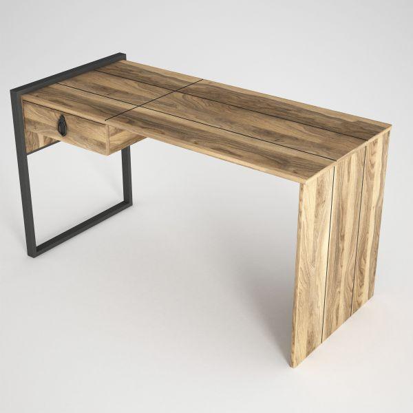 Schreibtisch Lost mit Metallfüße Walnuss