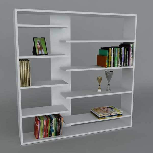 Bücherregal Handy Weiß