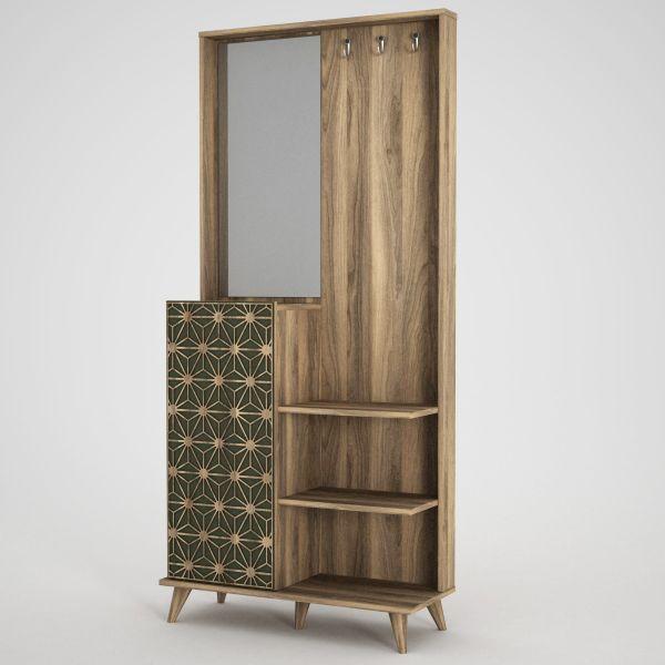Garderobe Tress mit Spiegel Walnuss
