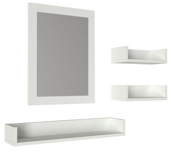 Badregal Simon mit Spiegel Weiß