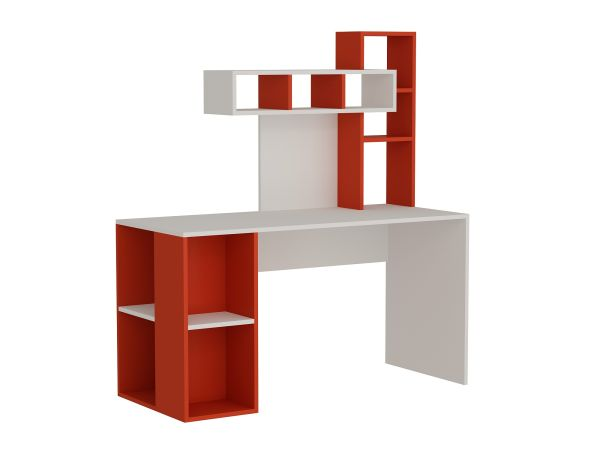 Schreibtisch Coral Weiß Rot