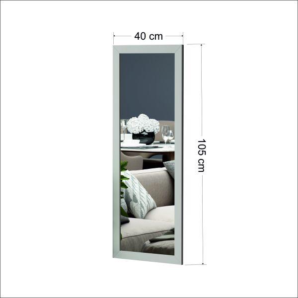 Spiegel Ovea 40x105cm Matt Weiß