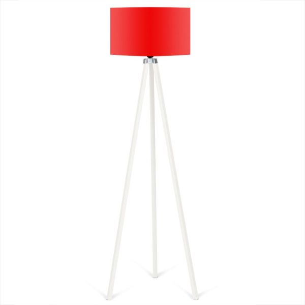 Tripod Stehleuchte Rot - Weiß 140 x 40 cm