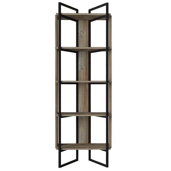 Bücherregal Costa mit Metallfüße und Rahmen Eiche
