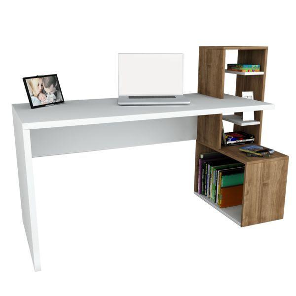 Schreibtisch Side Weiß Walnuss