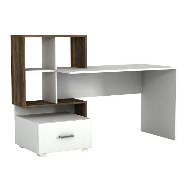 Schreibtisch Bloom Weiß Walnuss