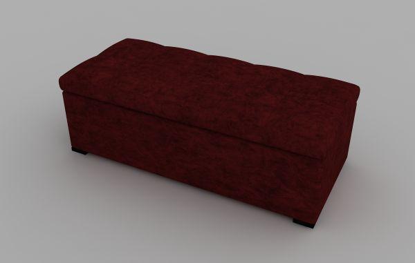 Sitzbank Albatros mit Stauraum Rot