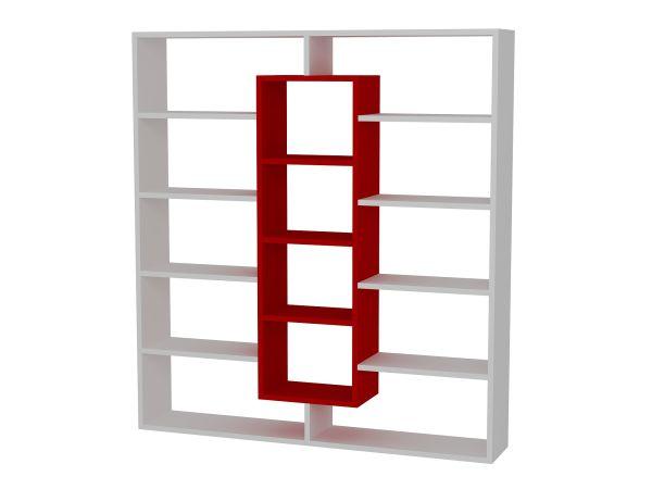 Bücherregal Ample Weiß Rot